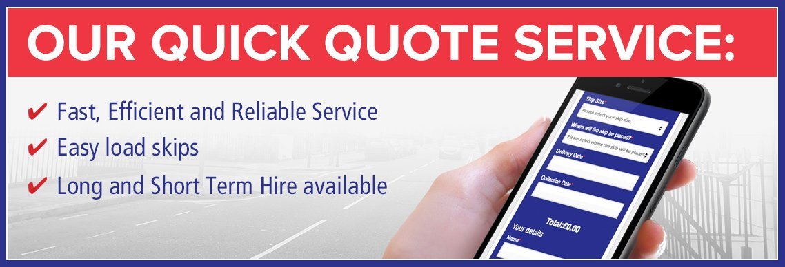 Our Quick Quote Service image banner TG Skip Hire